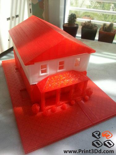 Print3Dd House Model 3