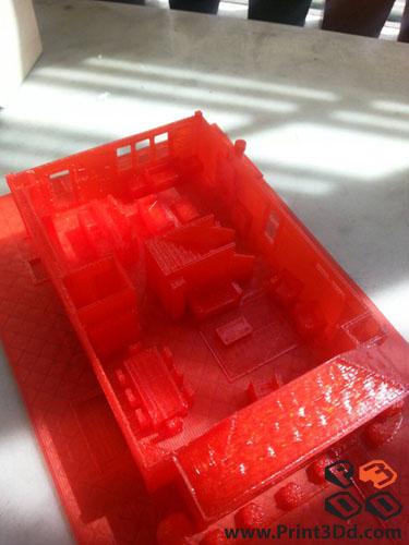 Print3Dd House Model2