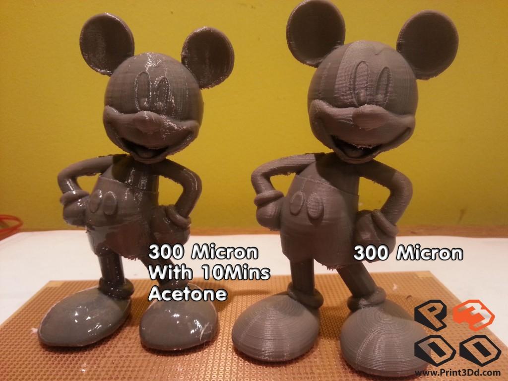 เปรียบเทียบ ABS ที่อบ Acetone