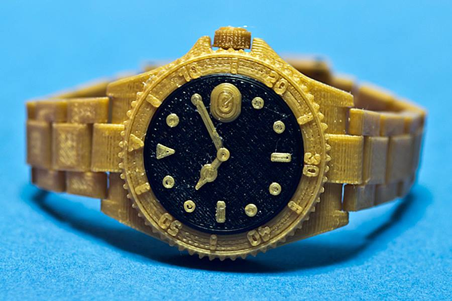 Golden Watch 3D Printing 01