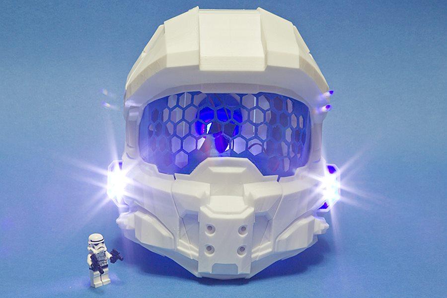 Halo Helmet 3D Printing 02
