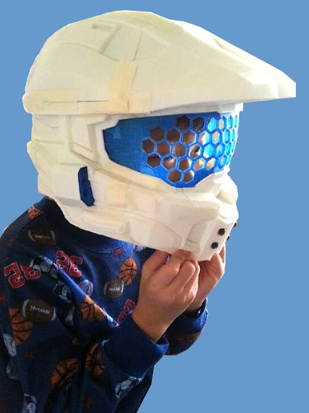 Halo Helmet 3D Printing 03