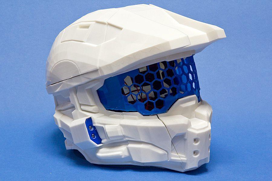 Halo Helmet 3D Printing 04