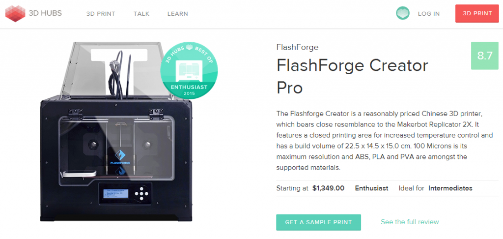 flashforge-creator-pro