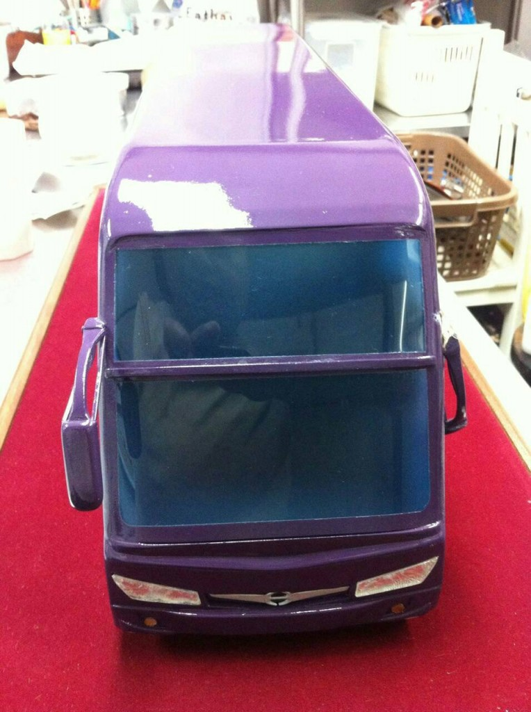 3D Print รถบริจาคโลหิต Flashforge creator 06