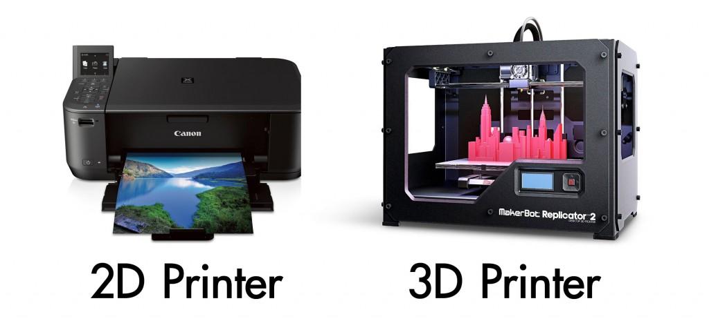 2D Printer VS 3D Printer