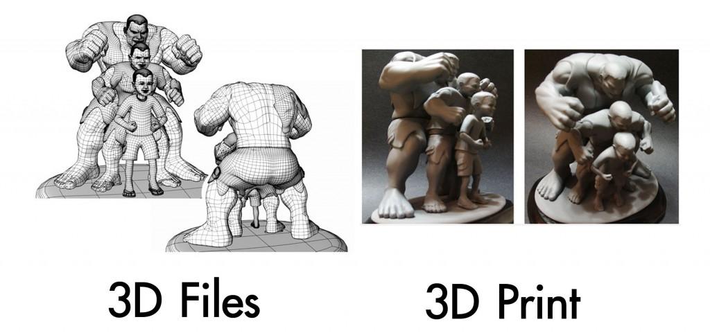 3D File VS 3D Print