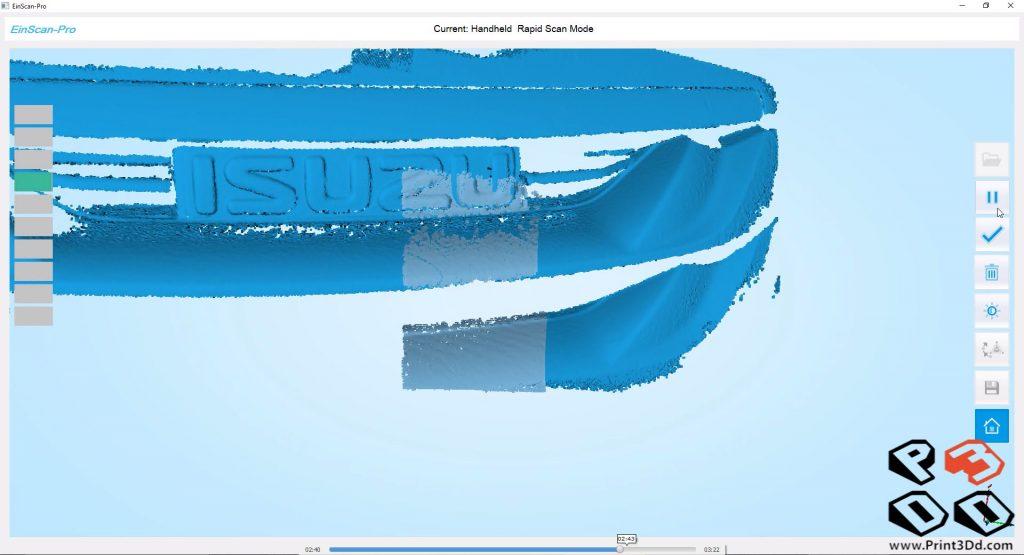 มาดูภาพในสกรีนของเครื่องคอมกันบ้าง ด้านซ้ายมือเป็นระยะที่เครื่องสแกนอยู่ห่างจากชิ้นงาน (ใกล้ไปหรือห่างไปมีการเตือน)