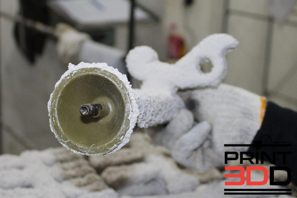 เข้า Process ชุบเซรามิค เครื่อง Wax และ ชิ้นงาน PolyCast