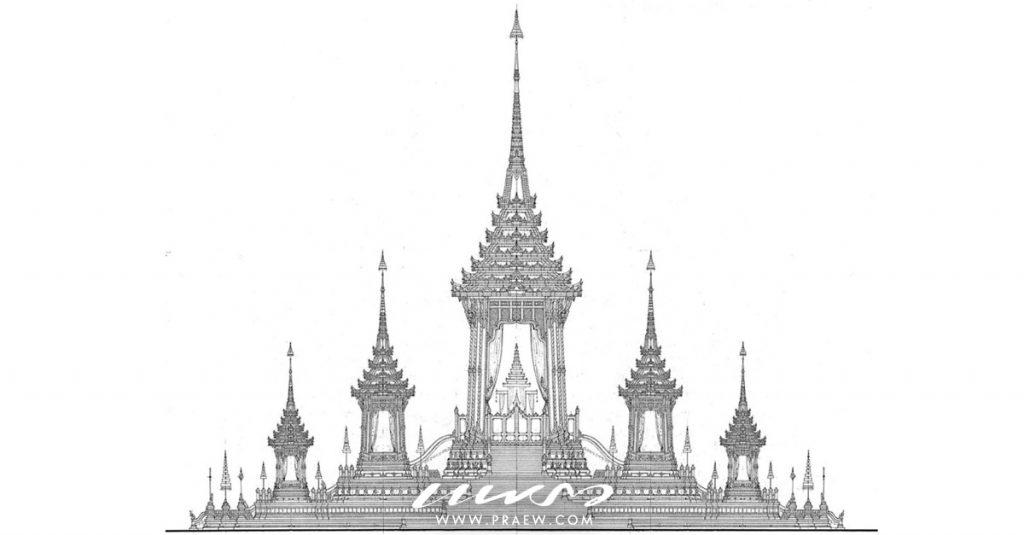 ออกแบบพระเมรุมาศแบบ 2มิติ ภาพร่าง Drawing