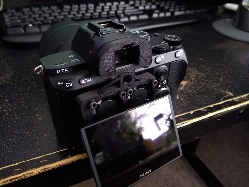 Sony a7iii body cooler | Print3dd Thailand 3D Printer, 3D