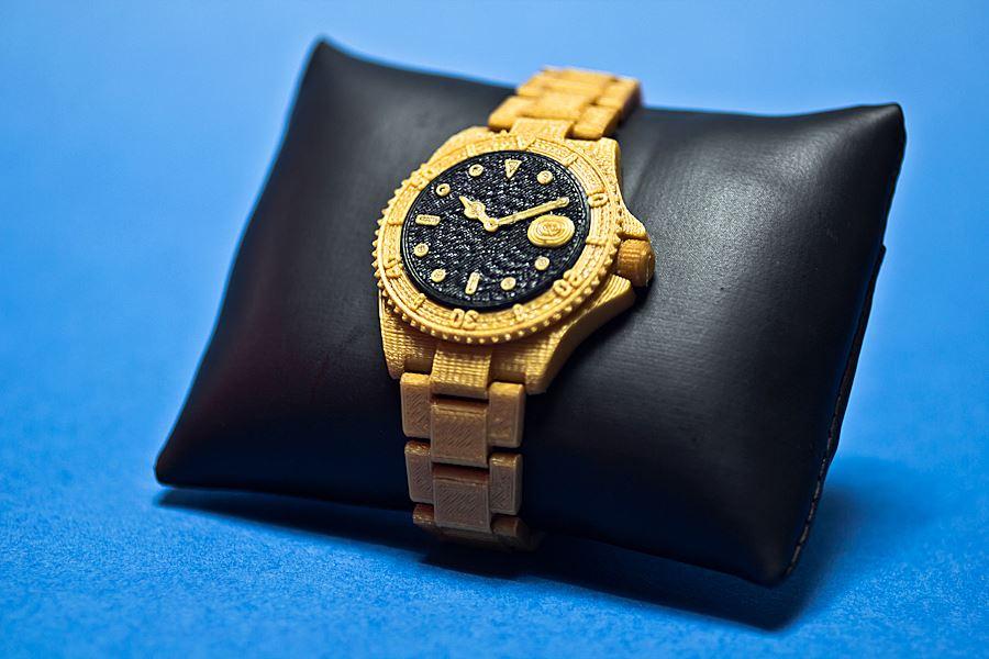 3D Print นาฬิกาทอง (สองหัวฉีด)