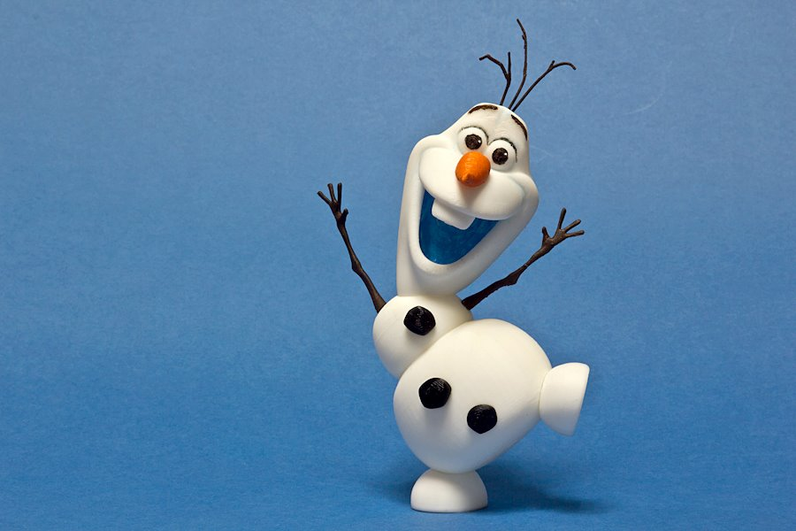 3D Printing Olaf the Snow Man