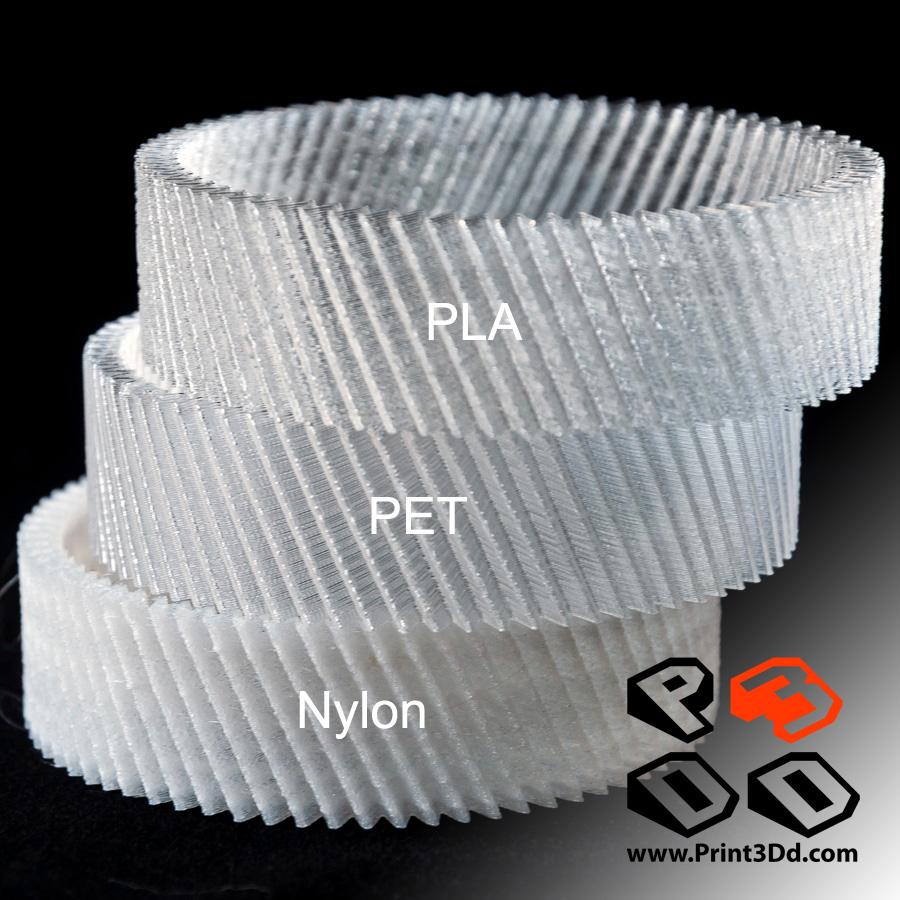 รีวิว การใช้งาน PETG  และ Nylon Filament