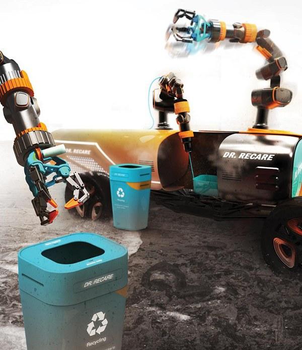 หุ่นยนต์อัตโนมัติติดเครื่องพิมพ์สามมิติจะมาช่วยรักษาความสะอาดของชายหาด