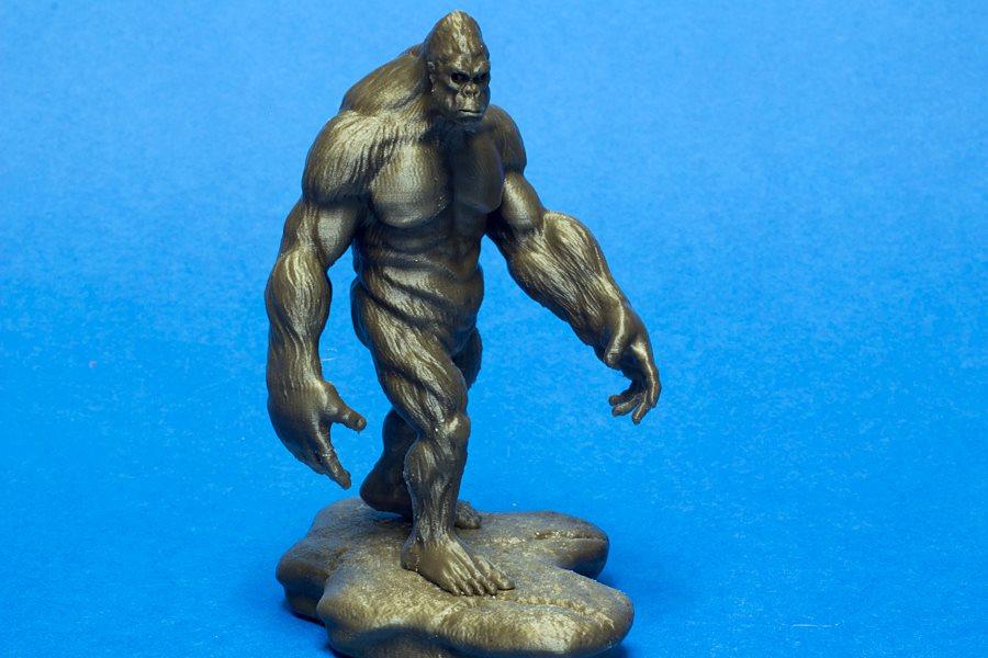 3D Print กอลิลลา ลิงยักษ์ โดย Flashforge Creator Pro