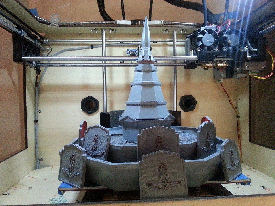 3D Printing พระธาตุเมทนีดล จำลอง