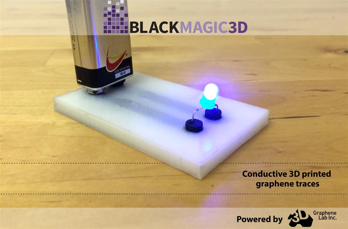 พิมพ์วงจรไฟฟ้าด้วยเส้นกราฟีน Graphene Filament
