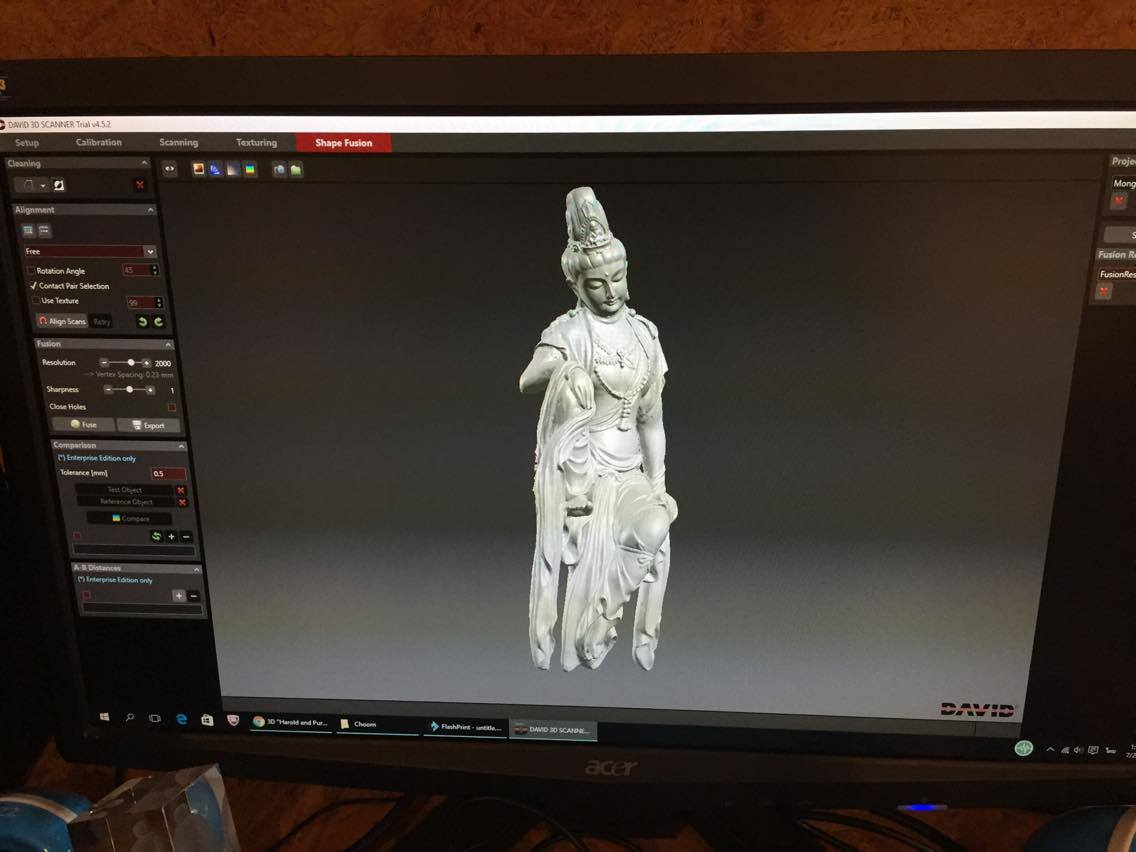 งานสแกน 3D แบบ HD แล้วพิมพ์ออกมาด้วยเครื่องพิมพ์สามมิติ