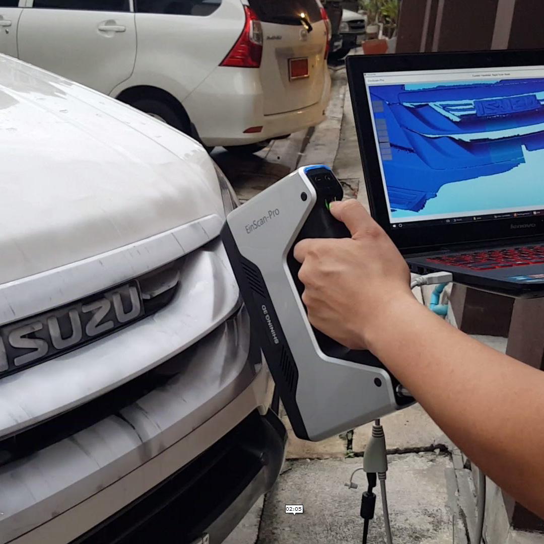 สแกน3มิติ รถยนต์ ด้วยเครื่อง EinScan-Pro โหมด Rapid Scan (มือจับ)
