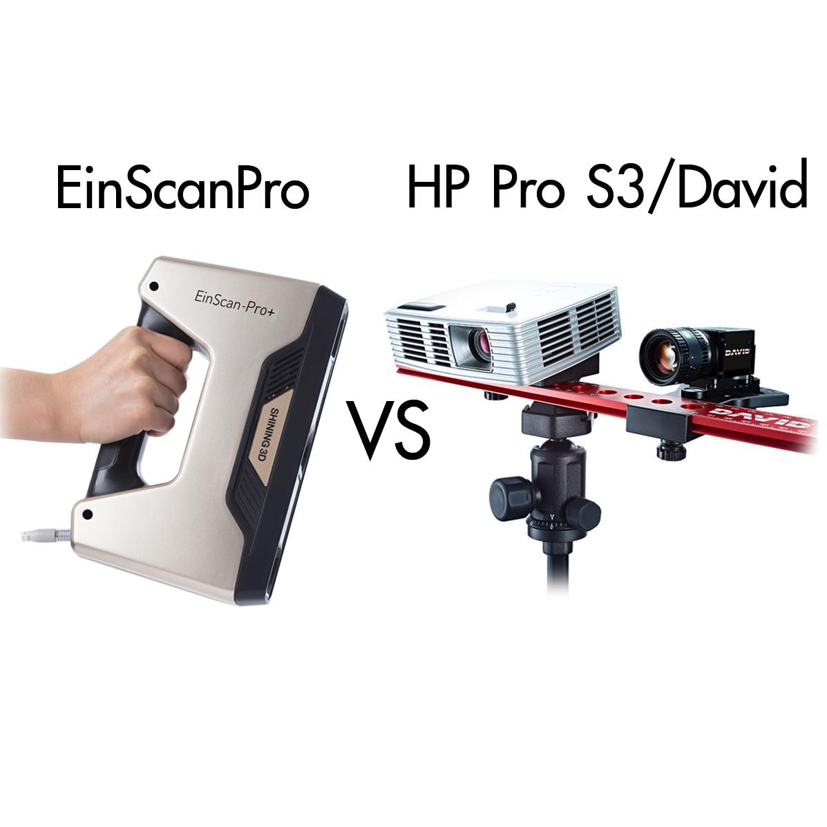 เปรียบเทียบเครื่องสแกนเนอร์ EinScanPro – HP 3D Scanner Pro S3