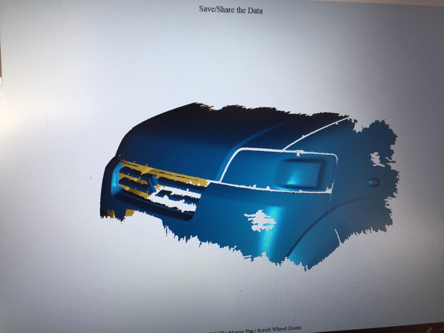 3D Scan รถยนต์ ส่วนประกอบรถยนต์ ด้วย EinScanPro