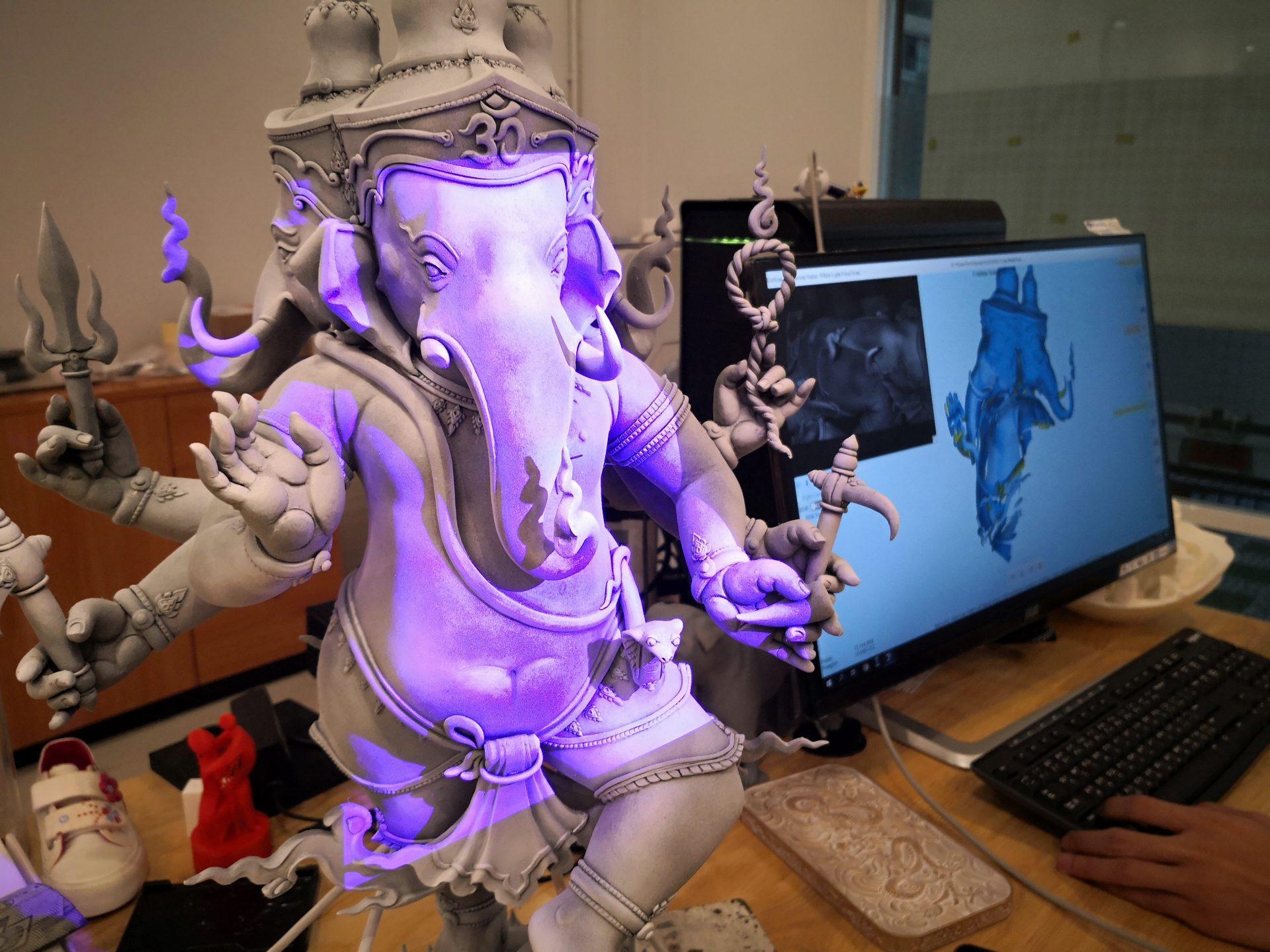 ประติมากรรม 4.0 กับ เทคโนโลยี 3D Scanner/Printer ตอน1/2 เครื่องสแกน 3มิติ