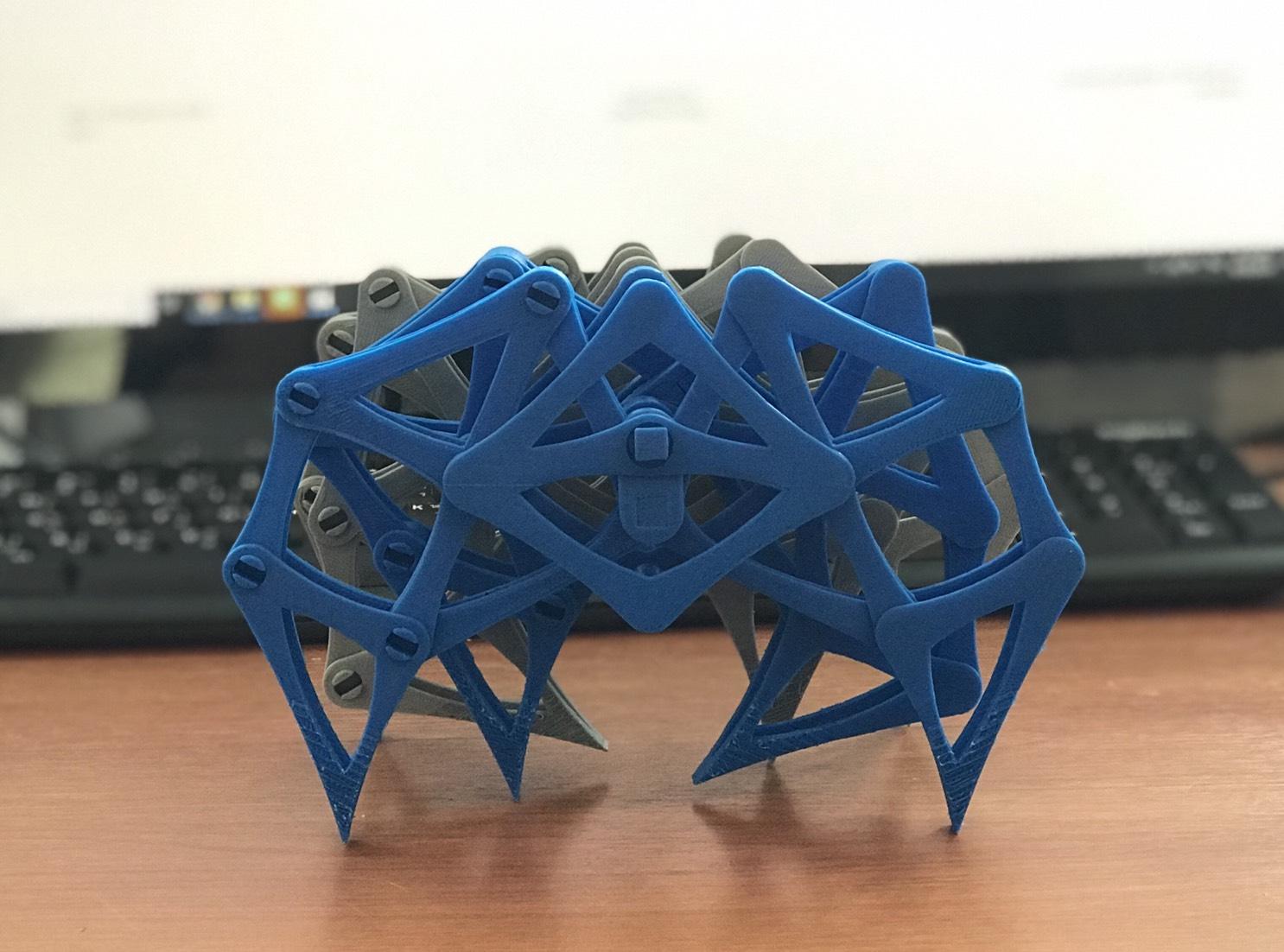 กลไกลขาแมงมุมจากเครื่องพิมพ์3มิติ