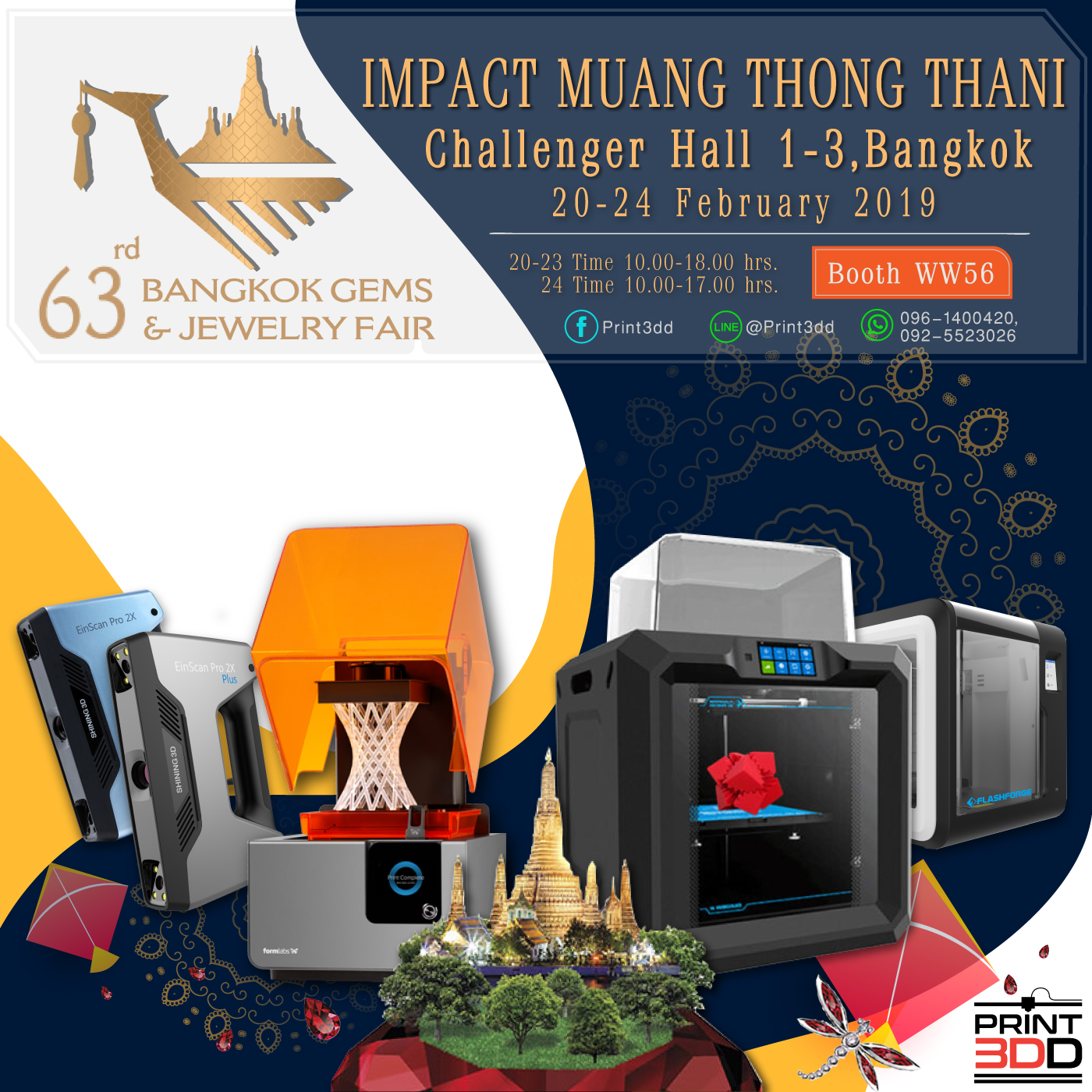 Bangkok Gems&Jewelry Fair 2019 at Impact Challenger Hall 1-3