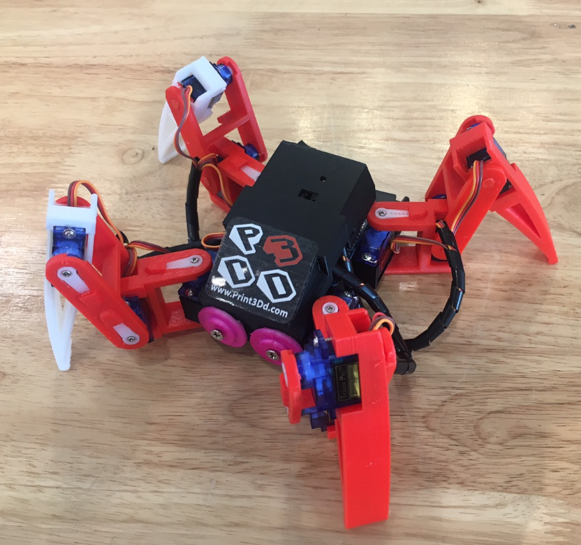 3D PRINTER: สร้างหุ่นยนต์แมงมุม 4 ขา จากเครื่อง