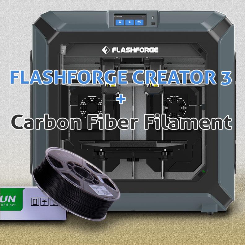 มินิรีวิว Flashforge Creator 3 + eSun ePA-Carbon Fiber