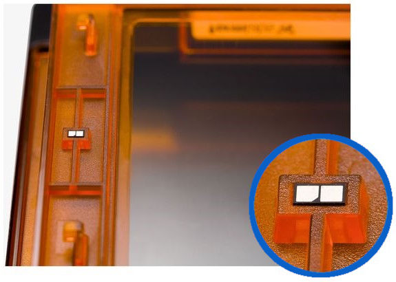 ID chip ในถาดเรซินแบบมาตรฐานของเครื่อง Form 2