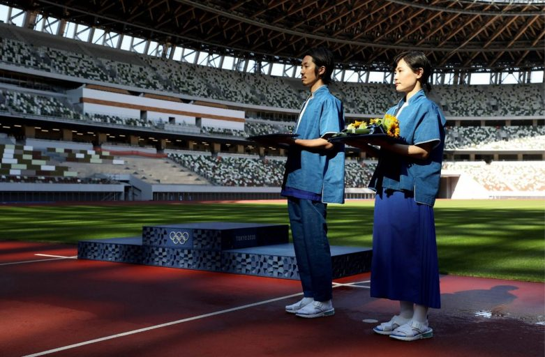 โพเดียมทำด้วย3D Printer จากวัสดุรีไซเคิล จากงานโตเกียวโอลิมปิก2020